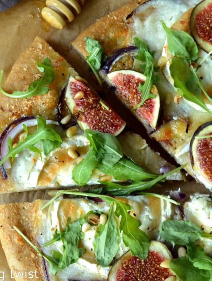 Fig & Goat Cheese Pizza with a Whole Wheat Crust