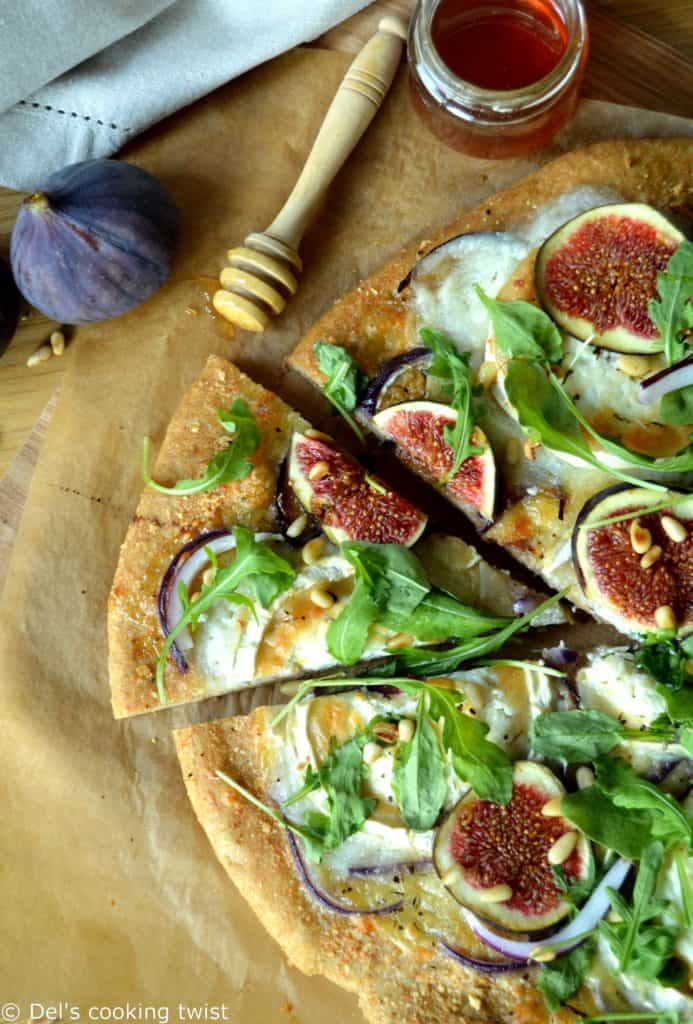 Fig and Goat Cheese Pizza with a Whole Wheat Crust