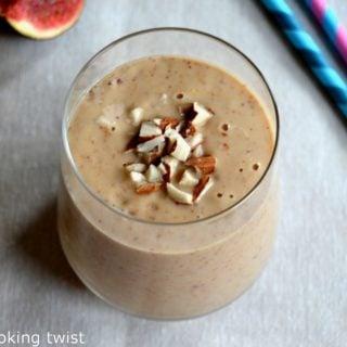 Vegan Fig Almond Smoothie