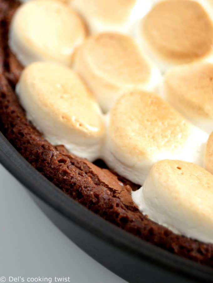 S'mores Chocolate & Salted Caramel Brownie
