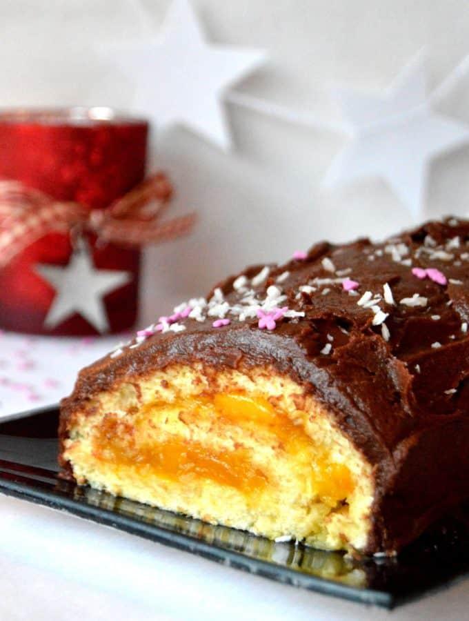 Christmas Chocolate Mango Yule Log