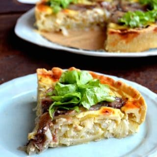 Swedish Anchovy and Onion Pie