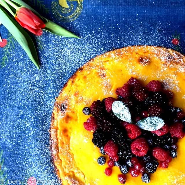 Lactose Free Saffron Cheesecake