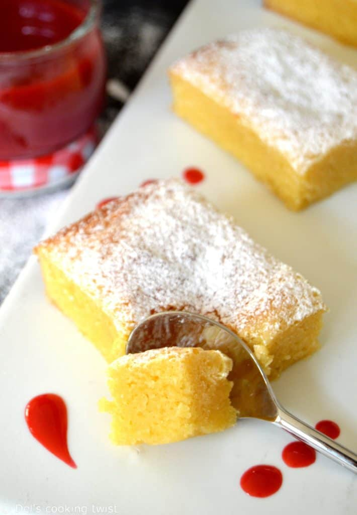 White Chocolate Cake with Raspberry Coulis