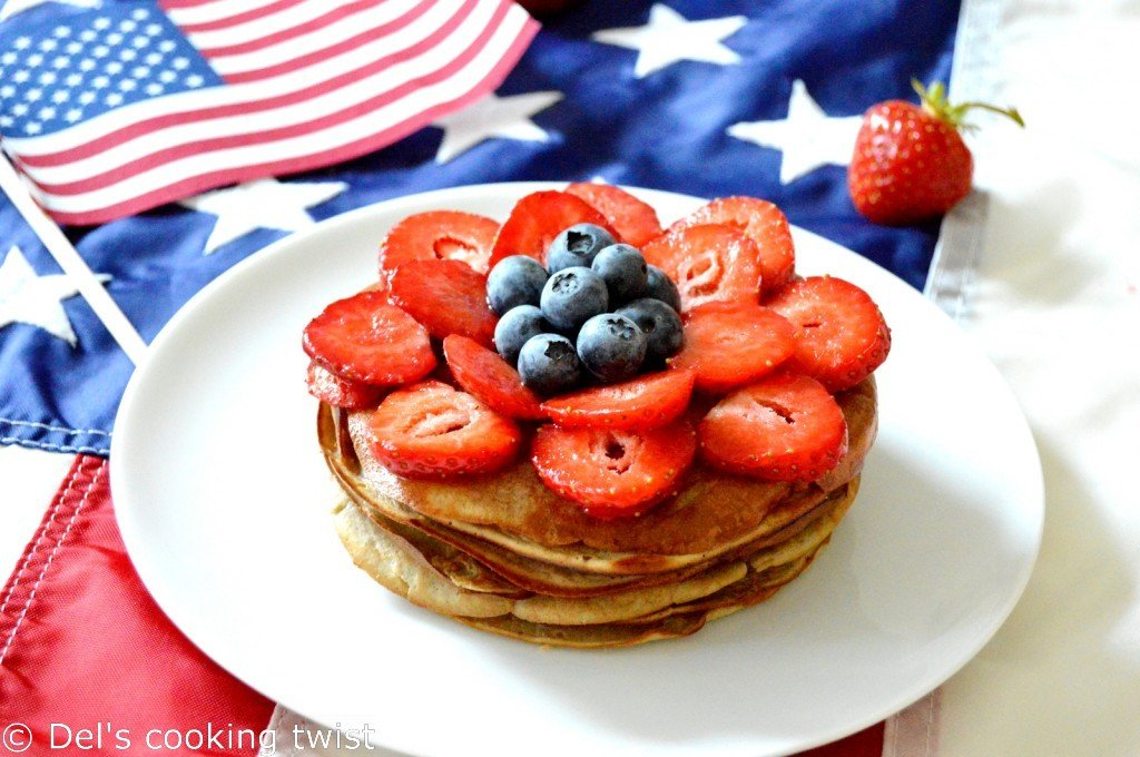 Healthy 3 ingredients firework pancakes