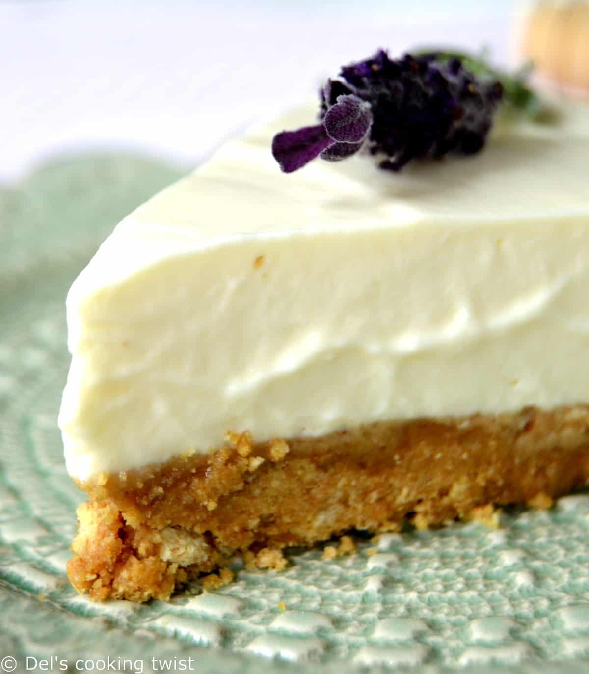 Honey lavender cheesecake
