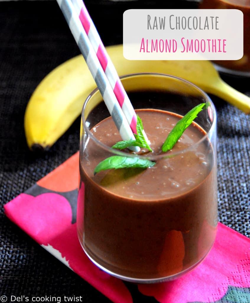 Raw-chocolate-almond-smoothie