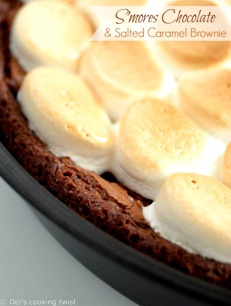 Smores-Chocolate-and-Salted-Caramel-Brownie