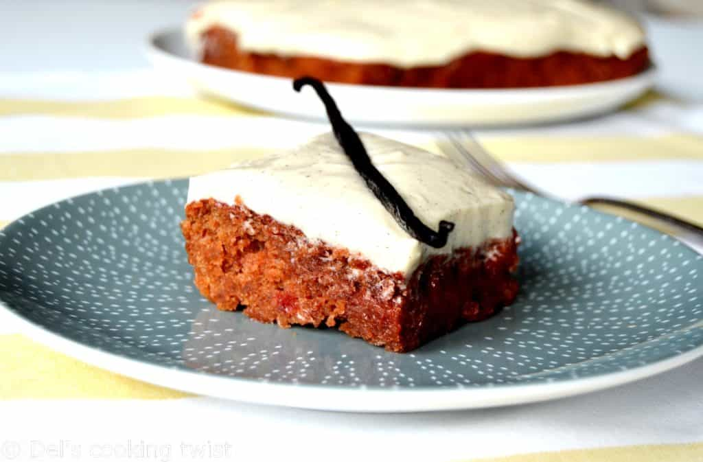 Beetroot cake with vanilla frosting