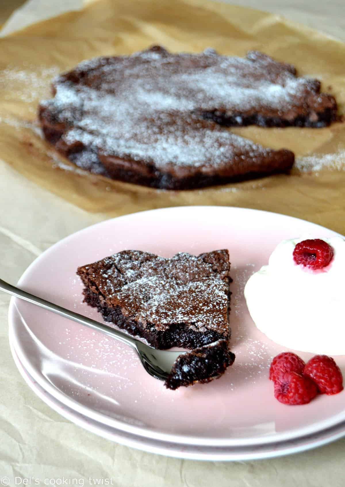 Swedish chocolate cake kladdkaka