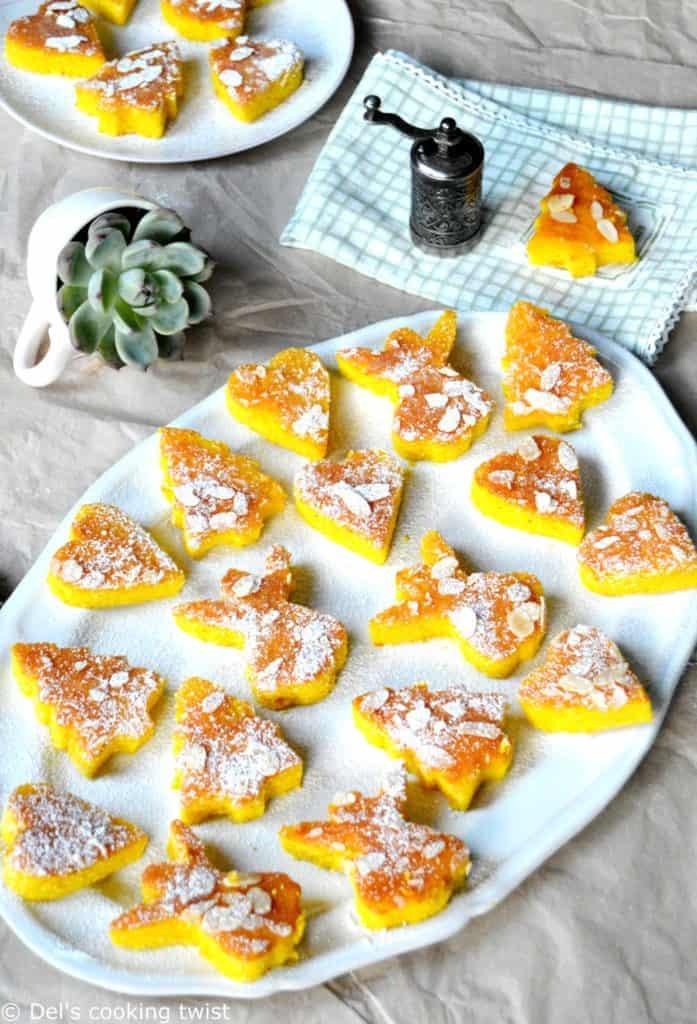 Moist mini orange and saffron cakes