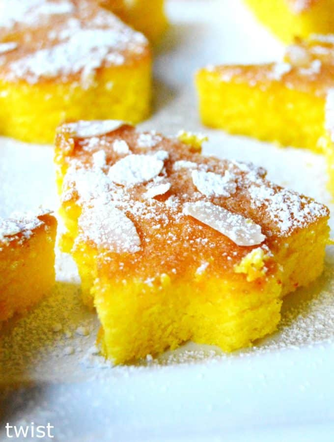 Moist Mini Orange & Saffron Cakes