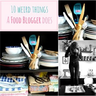 10 weird things a food blogger does