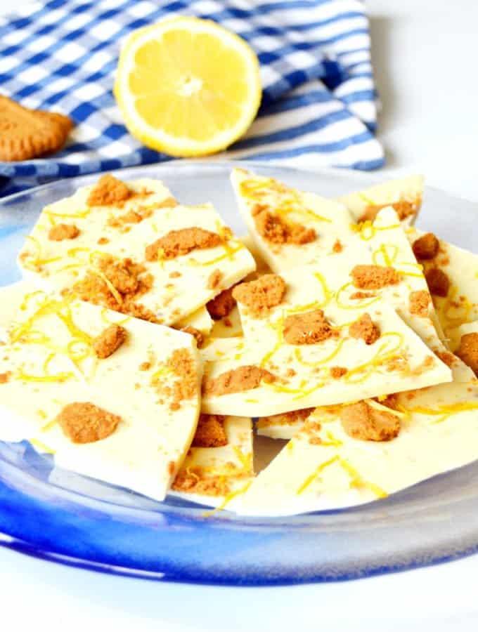 Tablettes de chocolat blanc au citron