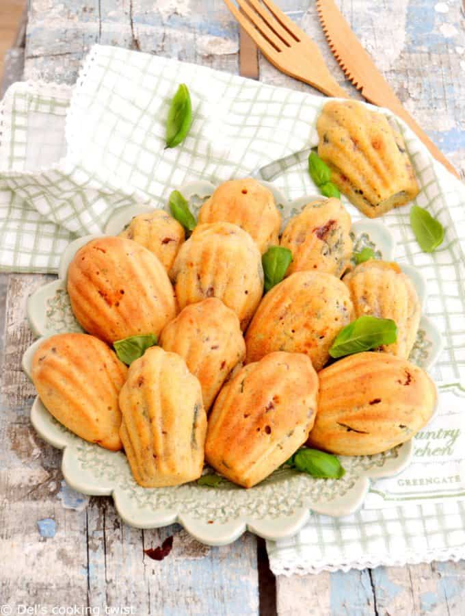 Goat Cheese & Sun-Dried Tomato Madeleines