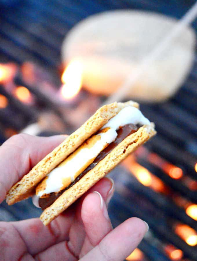 Campfire S'mores (+ indoor version!)