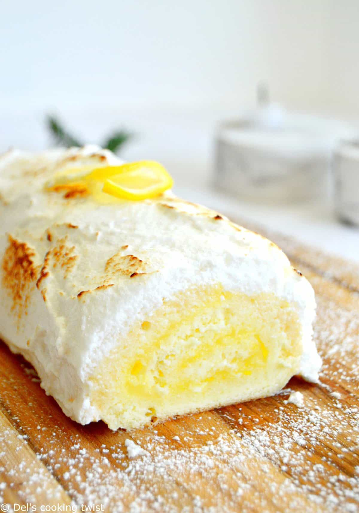Bûche de Noel facon tarte au citron meringuée