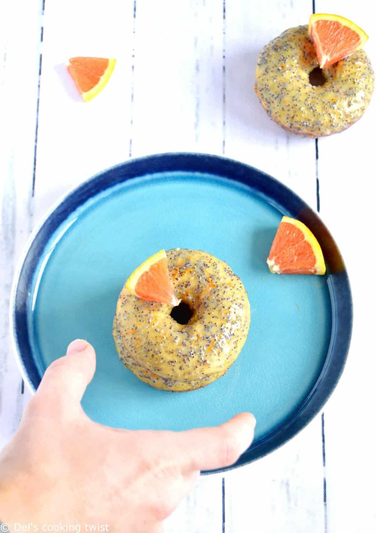Donuts orange et graines de pavot