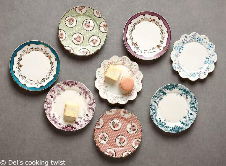 English tea plates