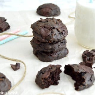 Healthy Double Chocolate Avocado Cookies