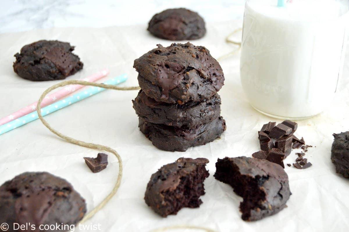 Healthy Double Chocolate Avocado Cookies