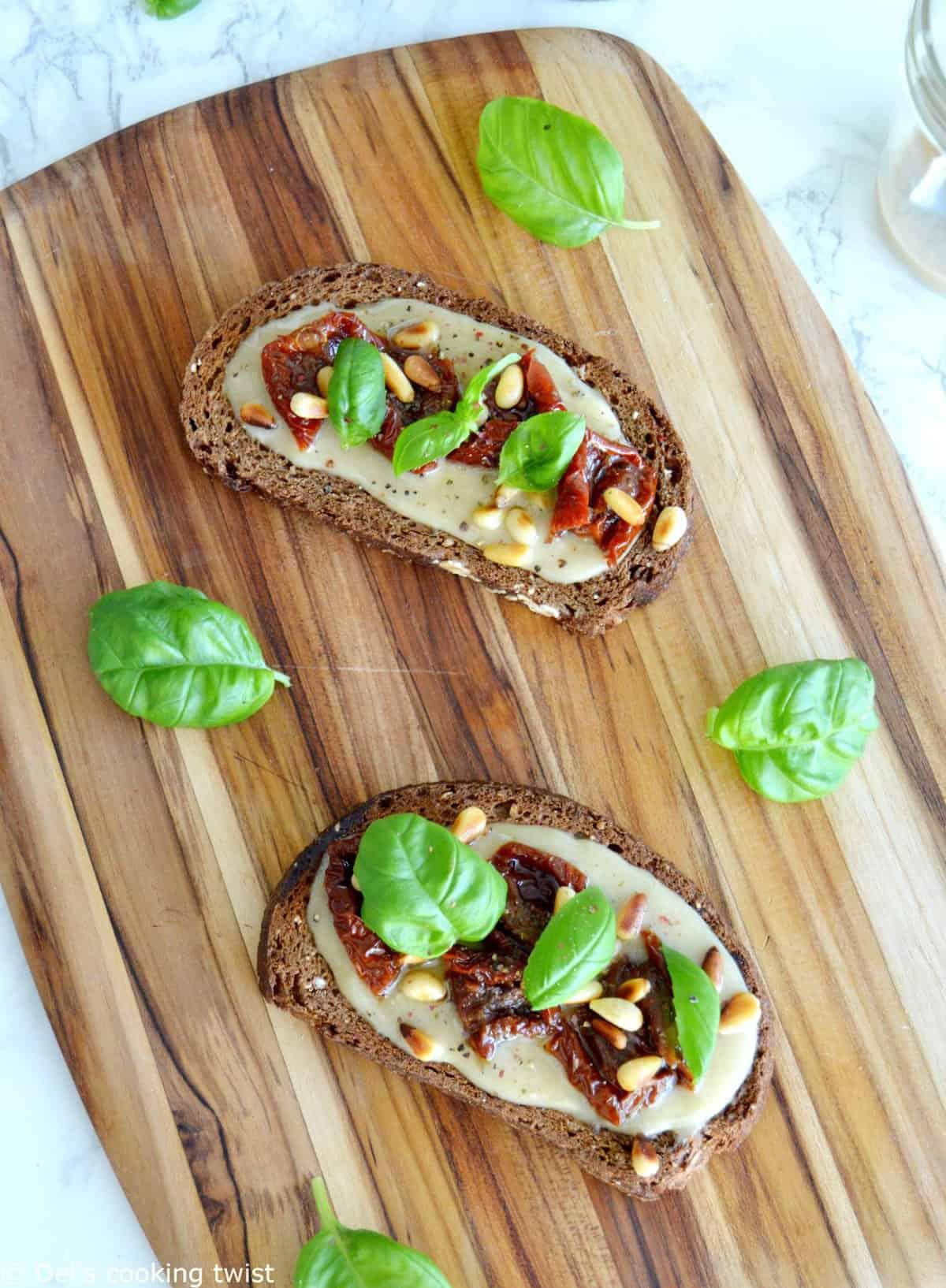 Tahini Sun-Dried Tomato Toast