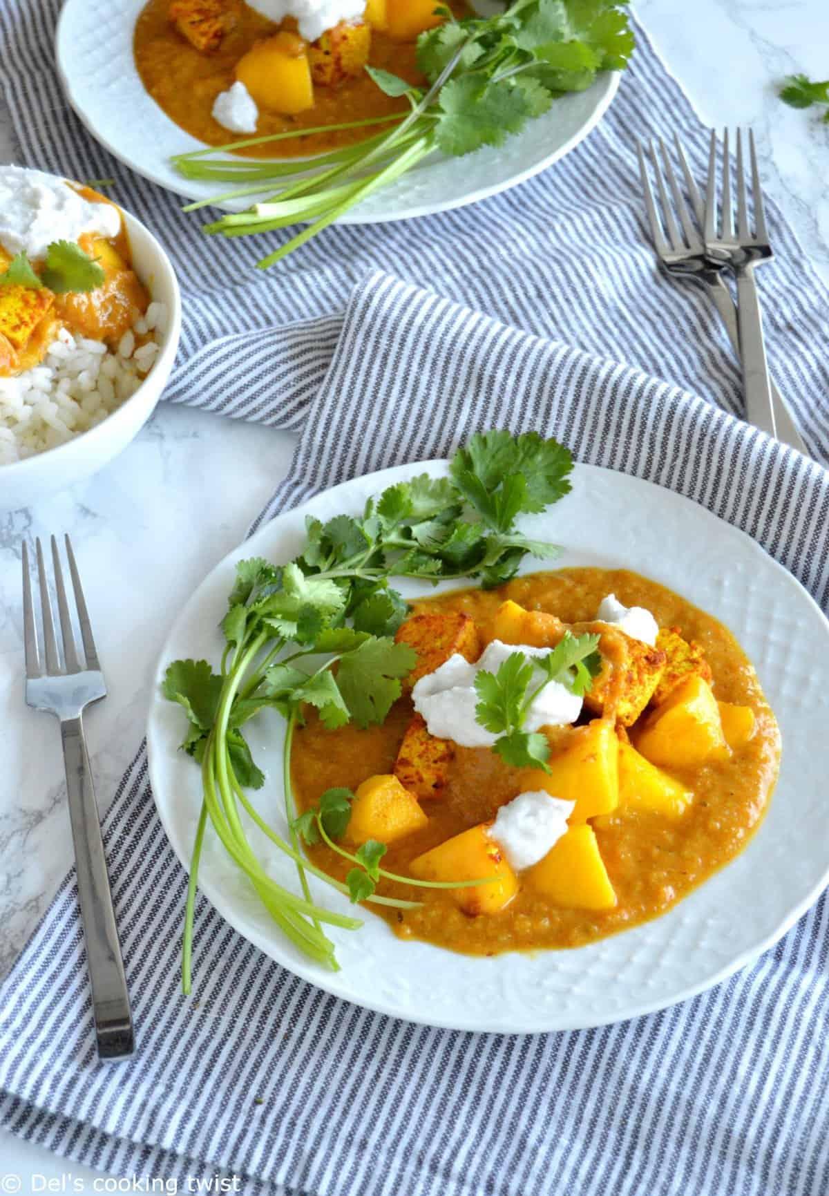Mango Curry Tofu