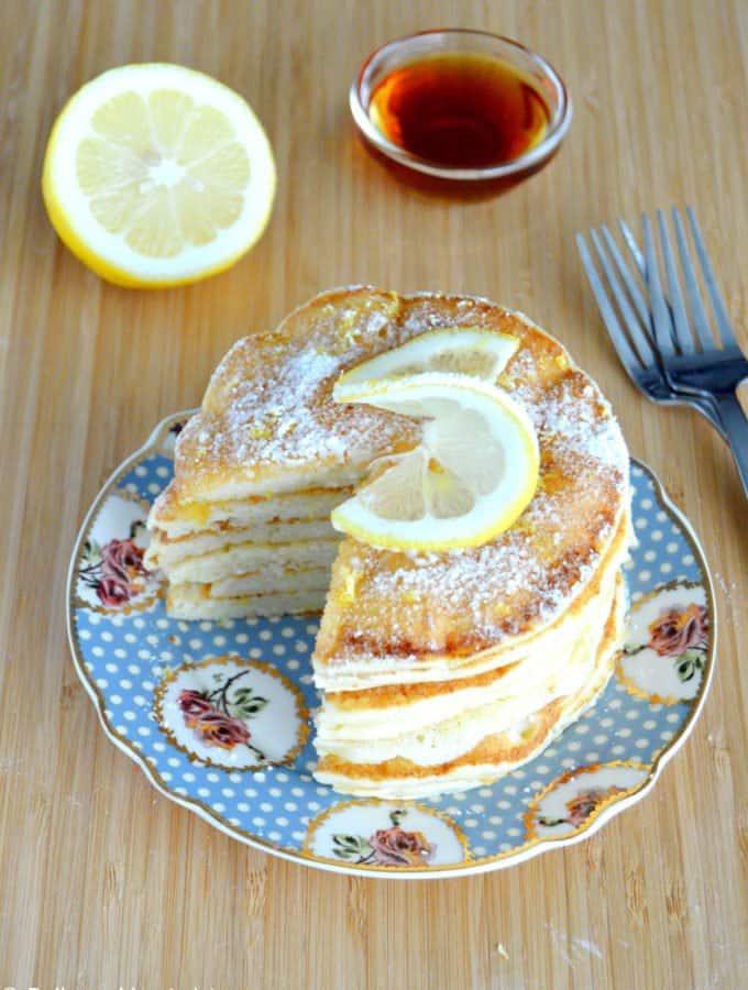 Pancakes au citron et à la ricotta ultra moelleux