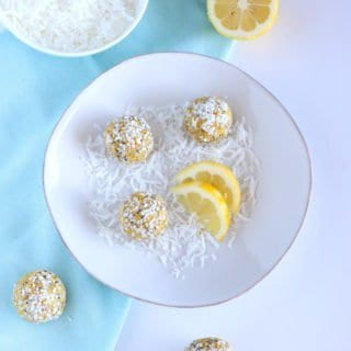 Healthy Lemon Coconut Energy Balls