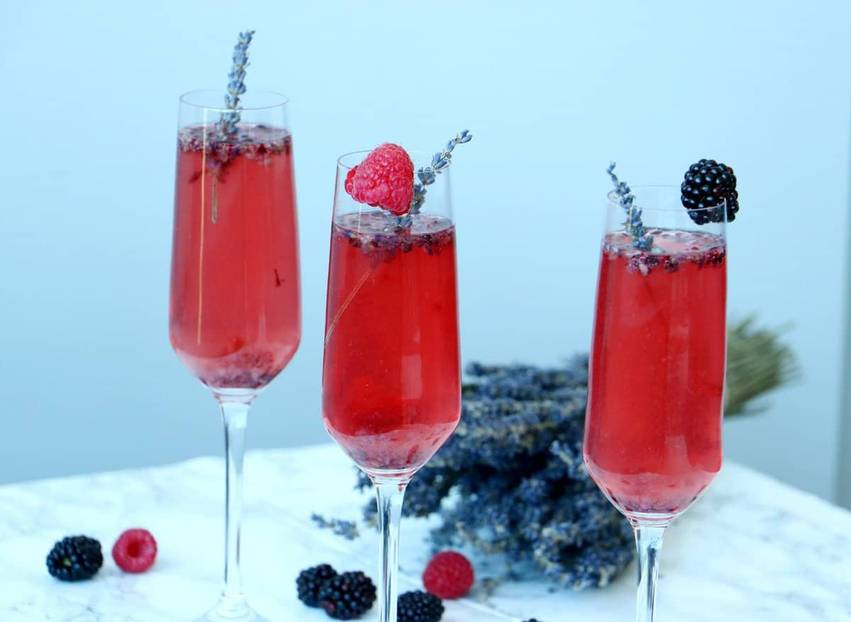 Blueberry Lavender Vouvray Cocktail