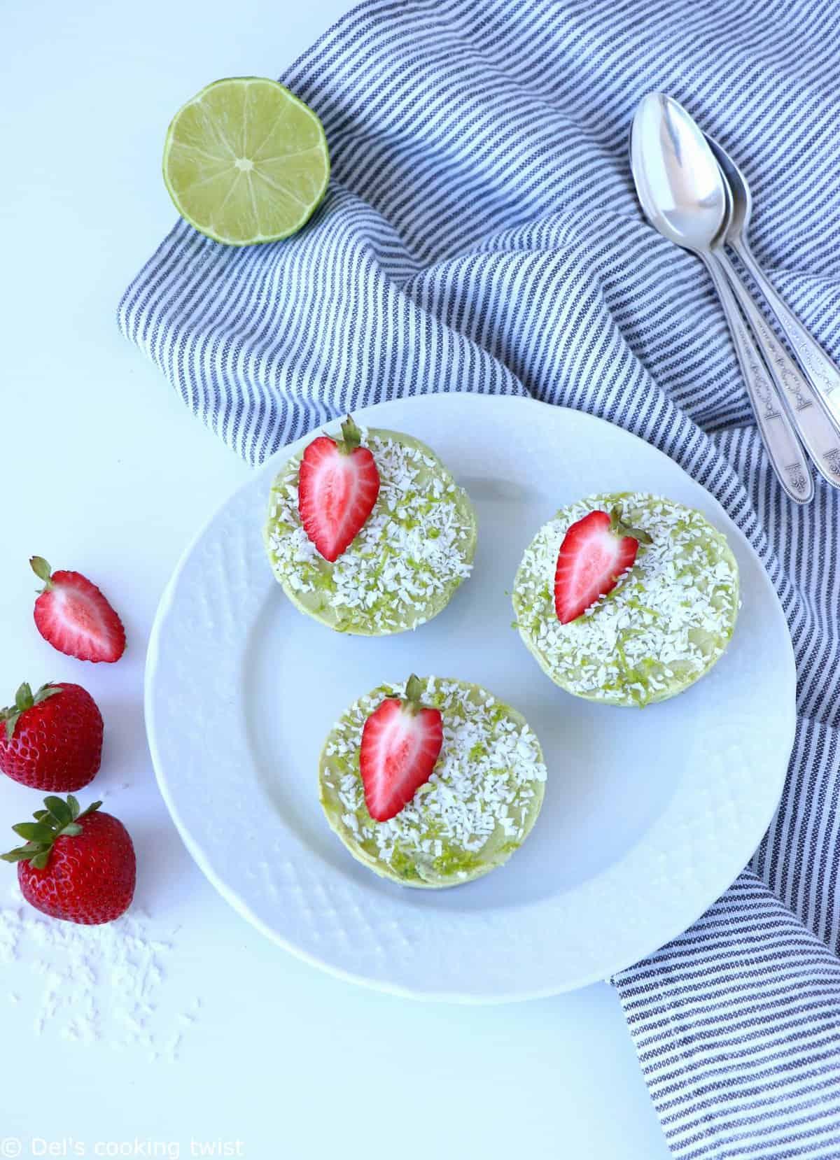 Mini Healthy Key Lime Pies