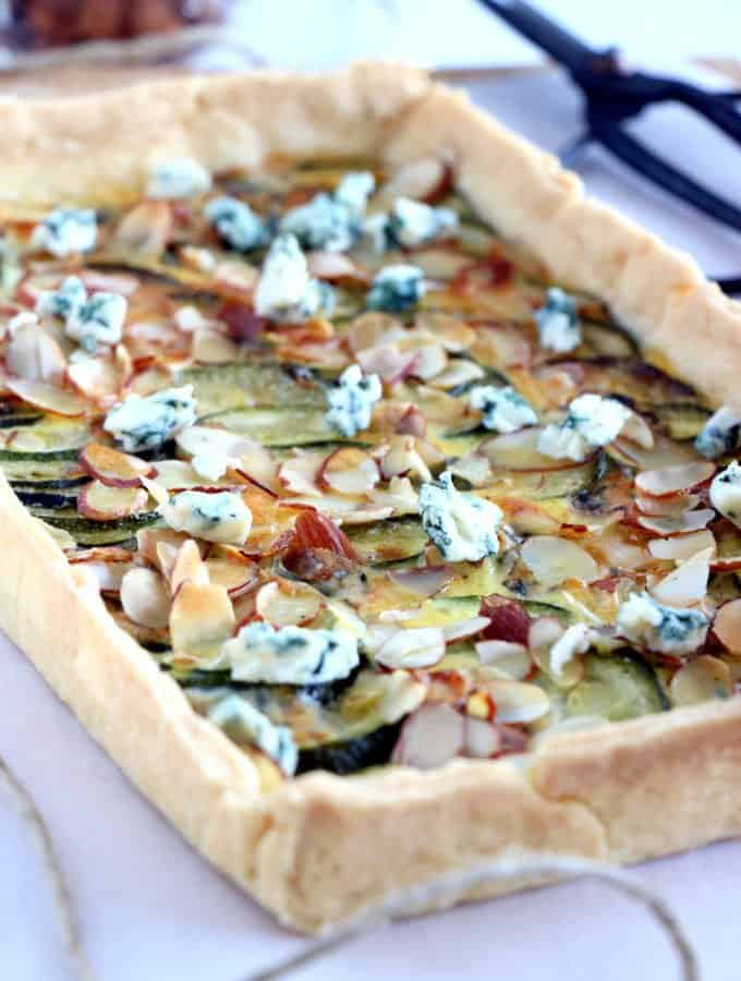 Almond and Zucchini Blue Cheese Tart
