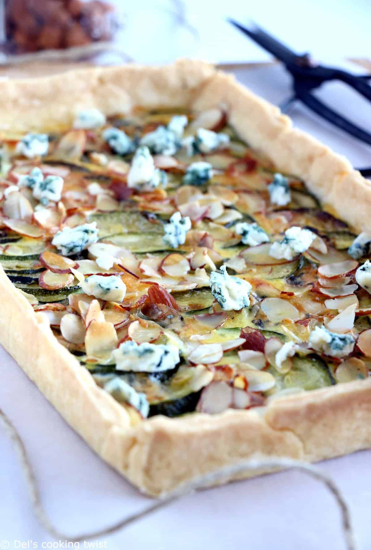 Almond, Zucchini and Blue Cheese Tart