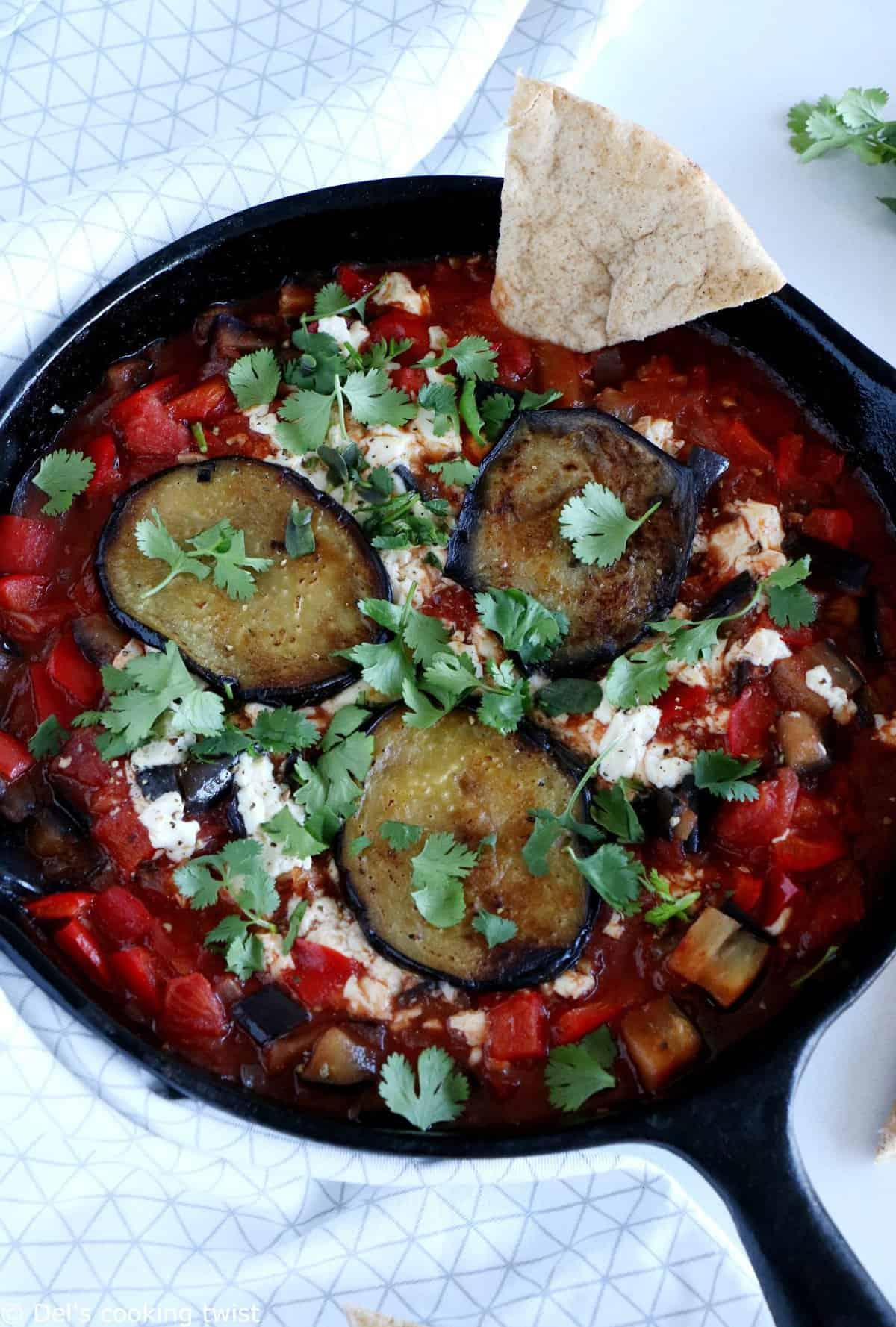 Vegan Eggplant Shakshuka