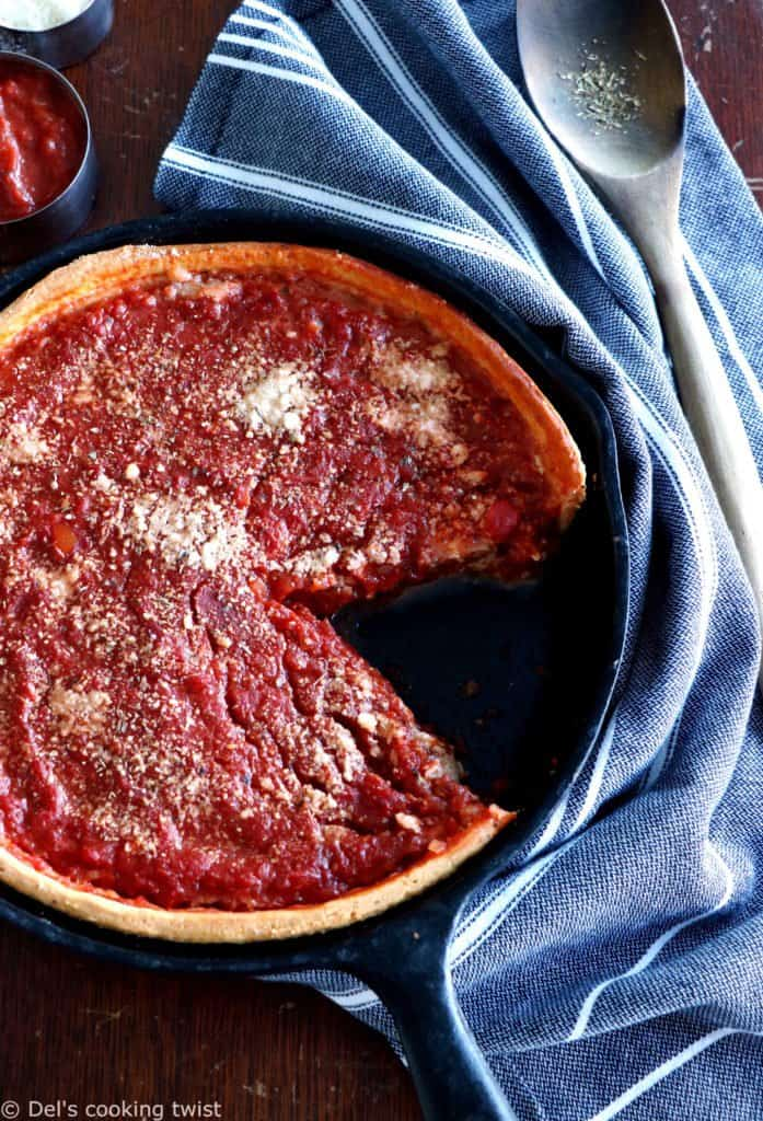 Chicago Style Deep Dish Pizza Dels Cooking Twist