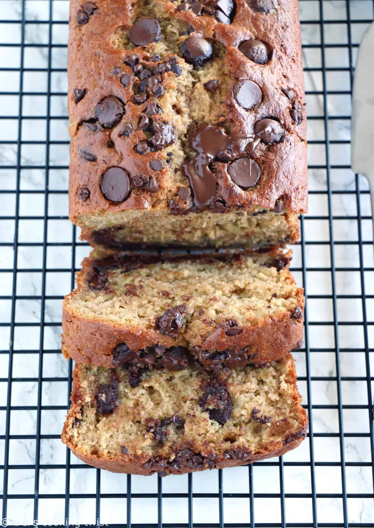 Zucchini Bread aux pépites de chocolat
