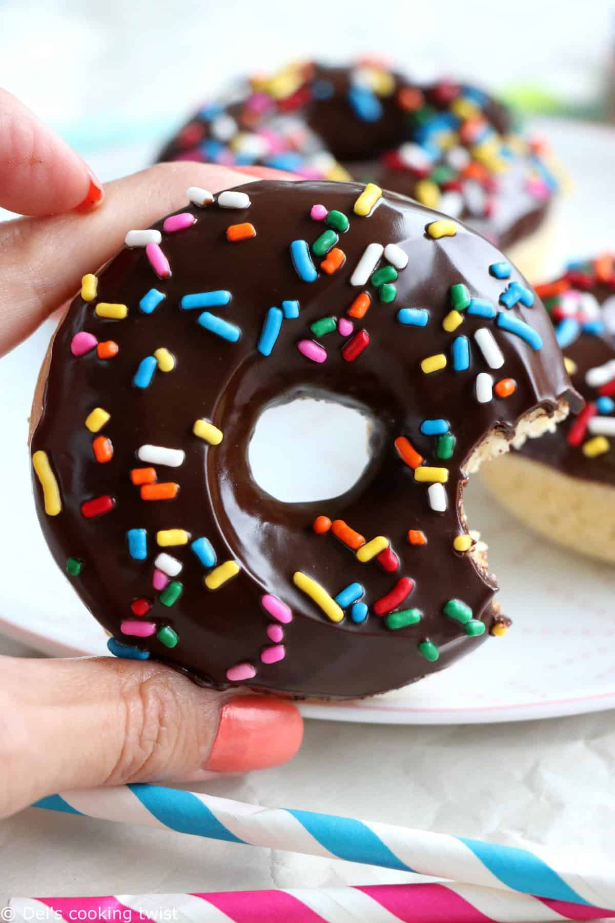 Easy Chocolate Frosted Donuts