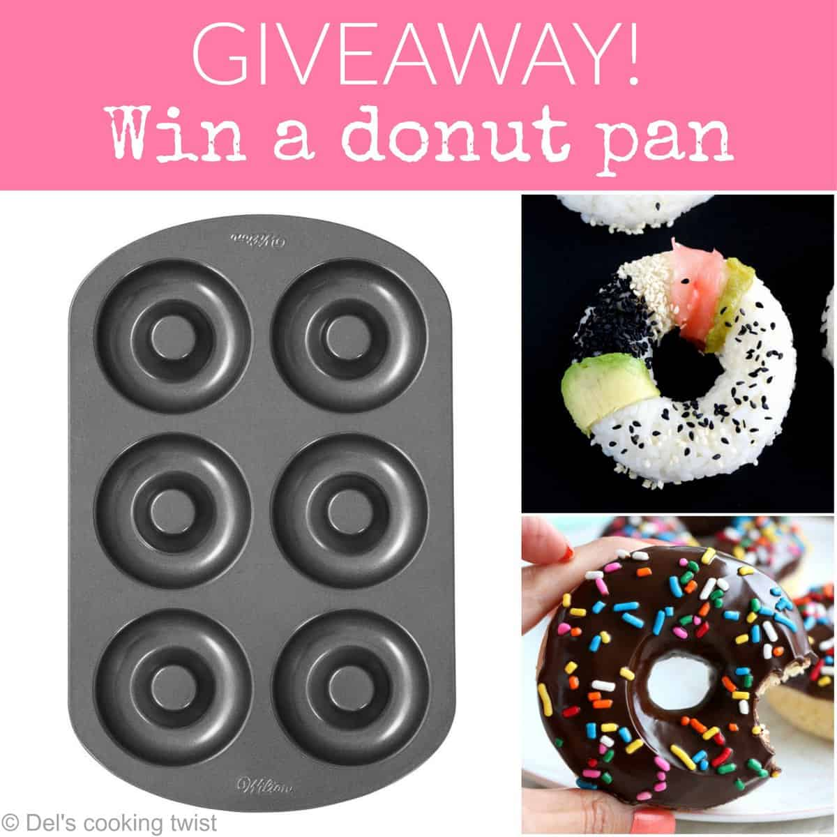 Giveaway win a donut pan