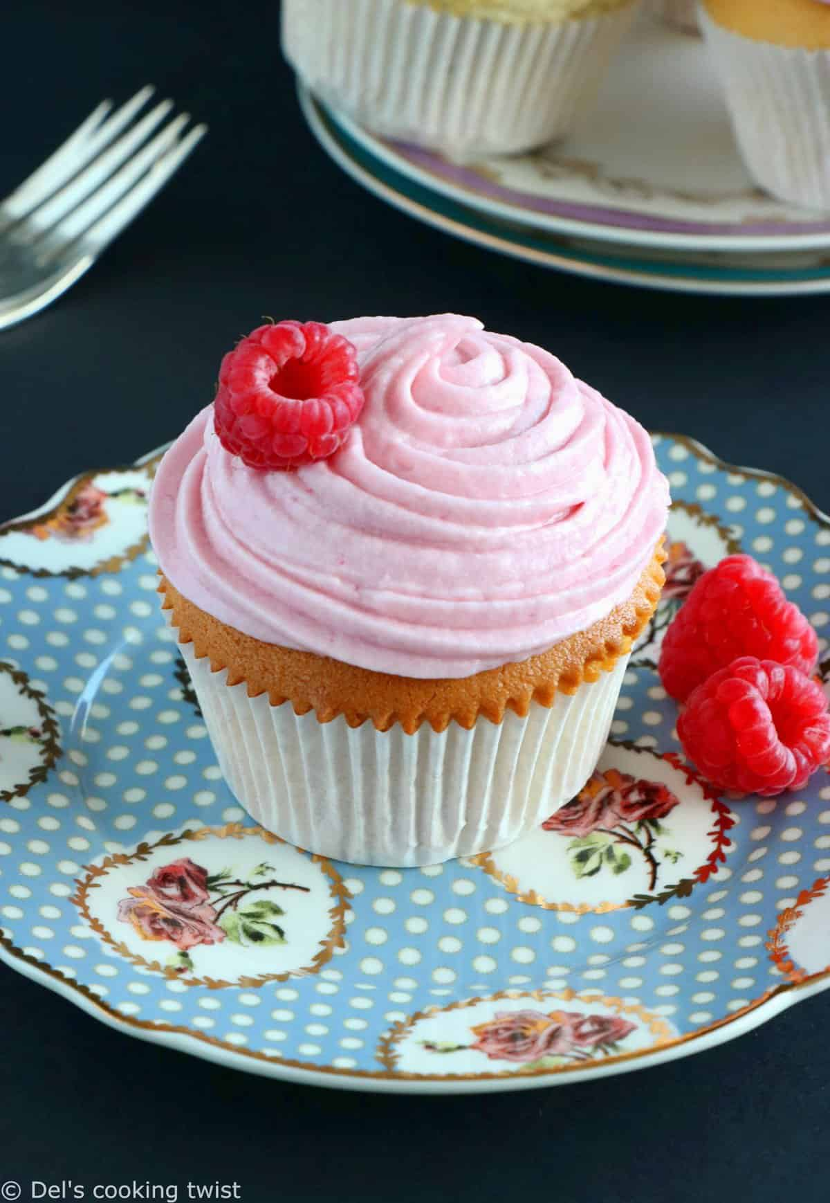 Raspberry Rosewater Cupcakes