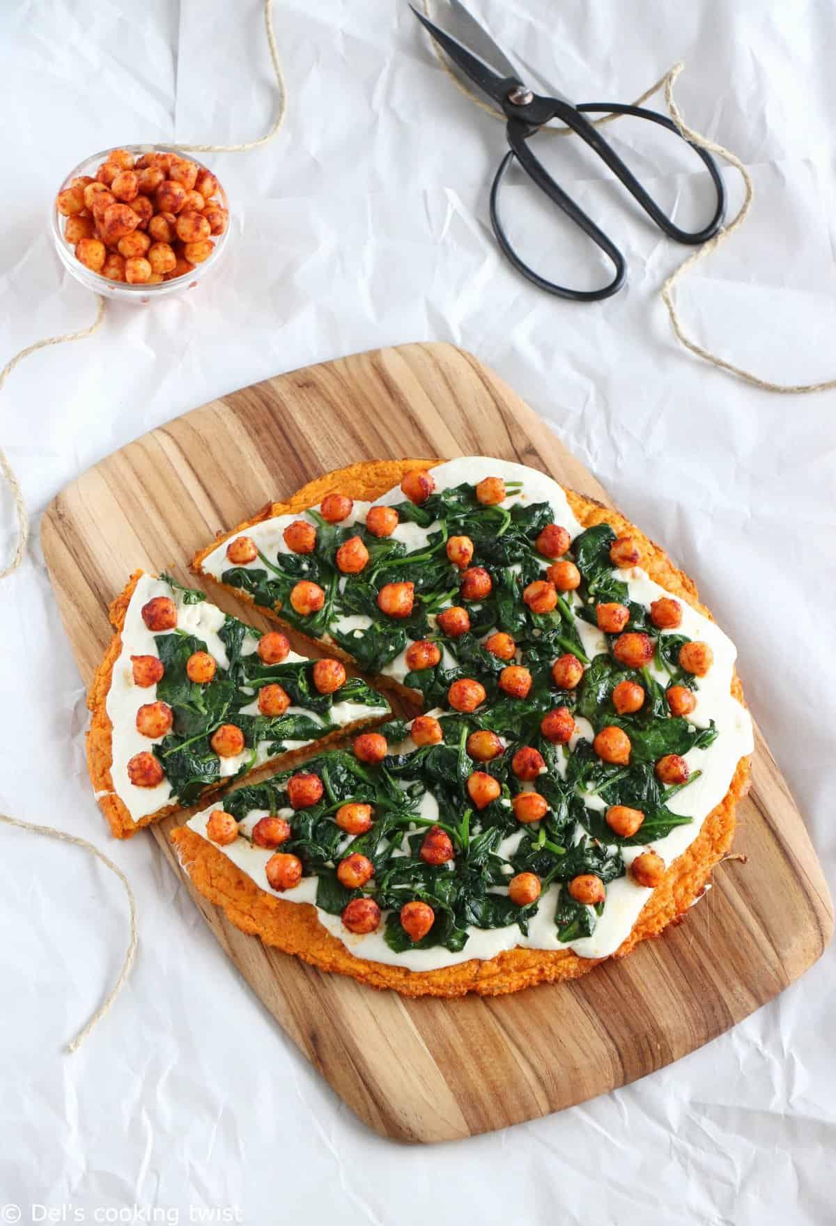 Veggie Sweet Potato Crust Pizza