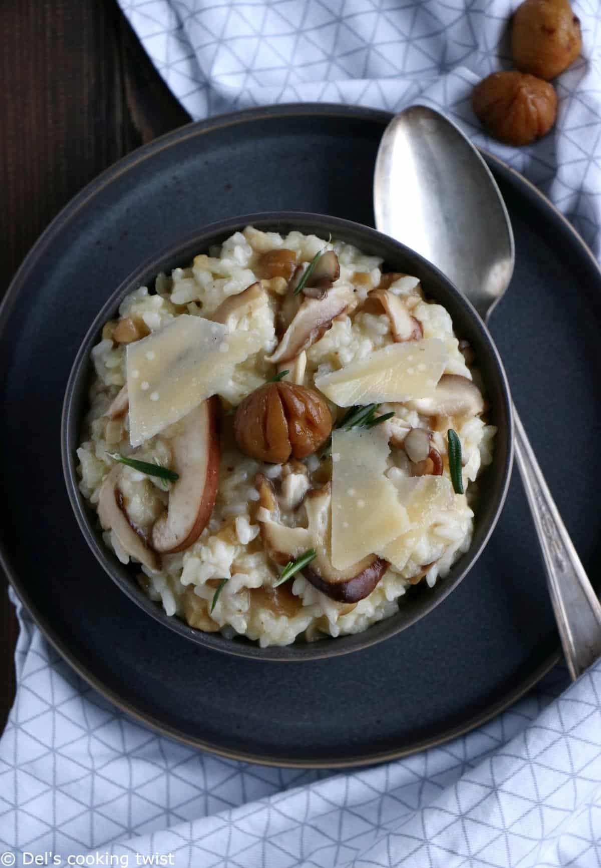 Shiitake Mushroom and Chestnut Risotto