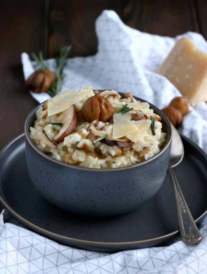 Shiitake Mushroom and Chestnut Risotto