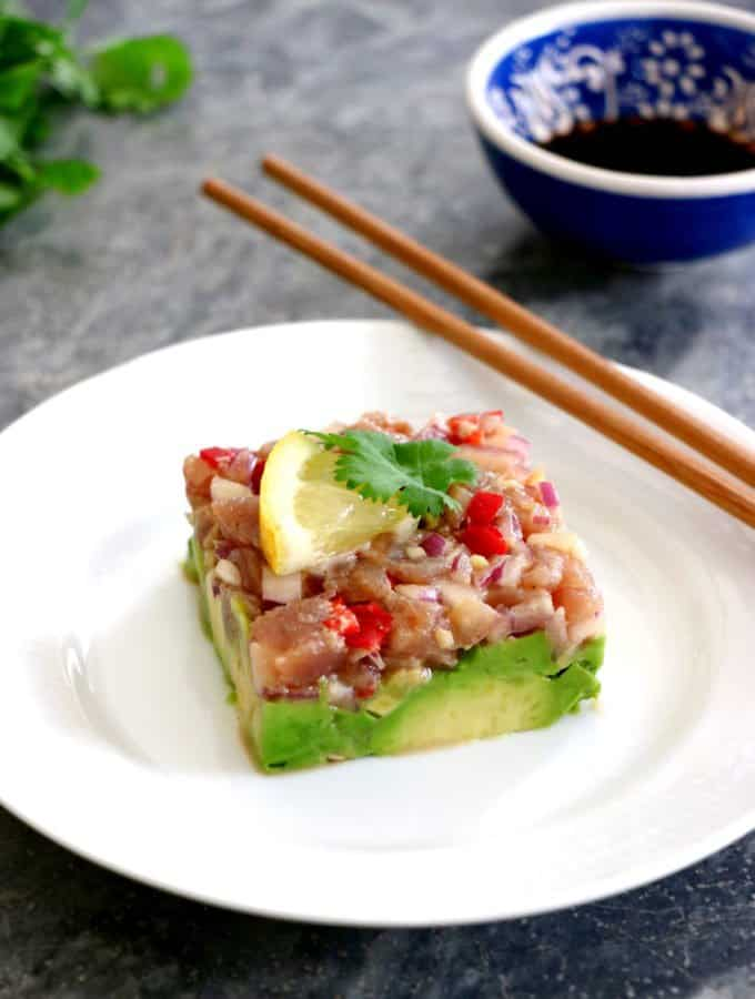 Tuna Tartare with a Ginger Soy Dressing