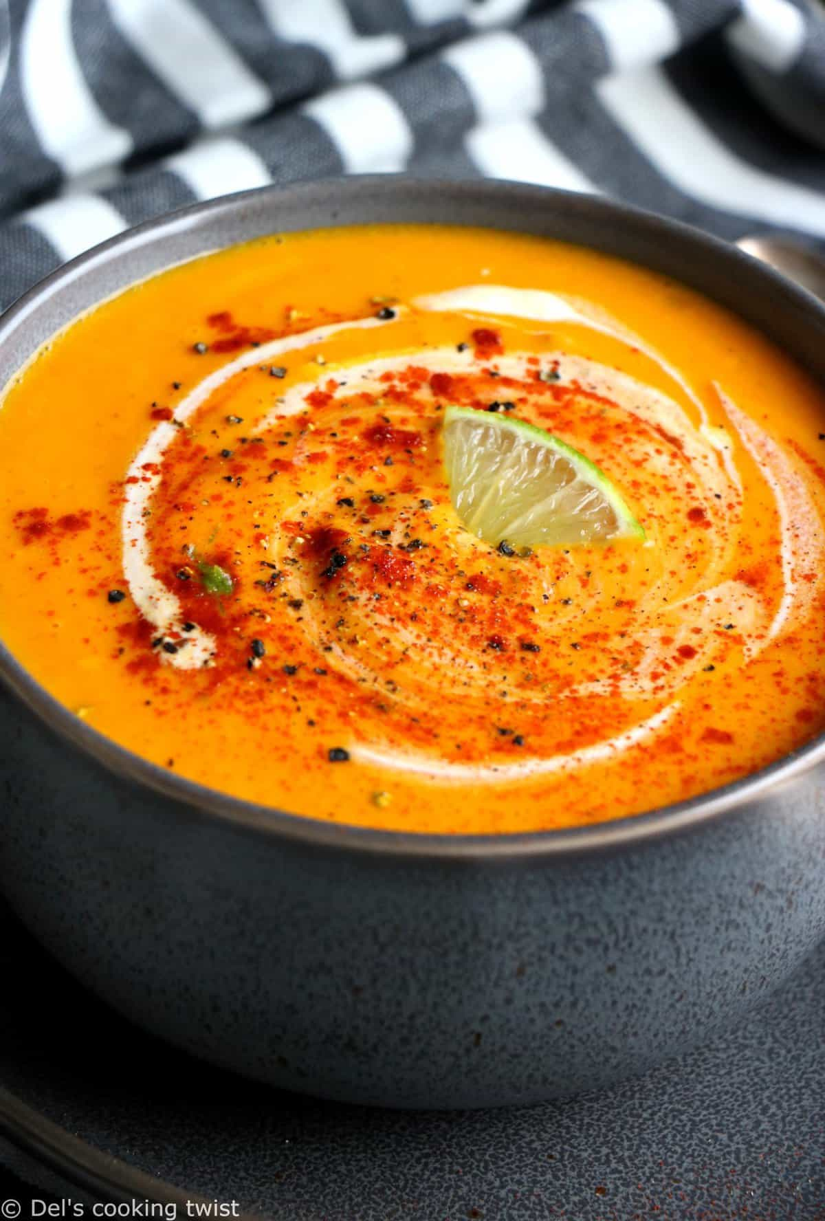 Best Ever Ginger Lime Carrot Soup