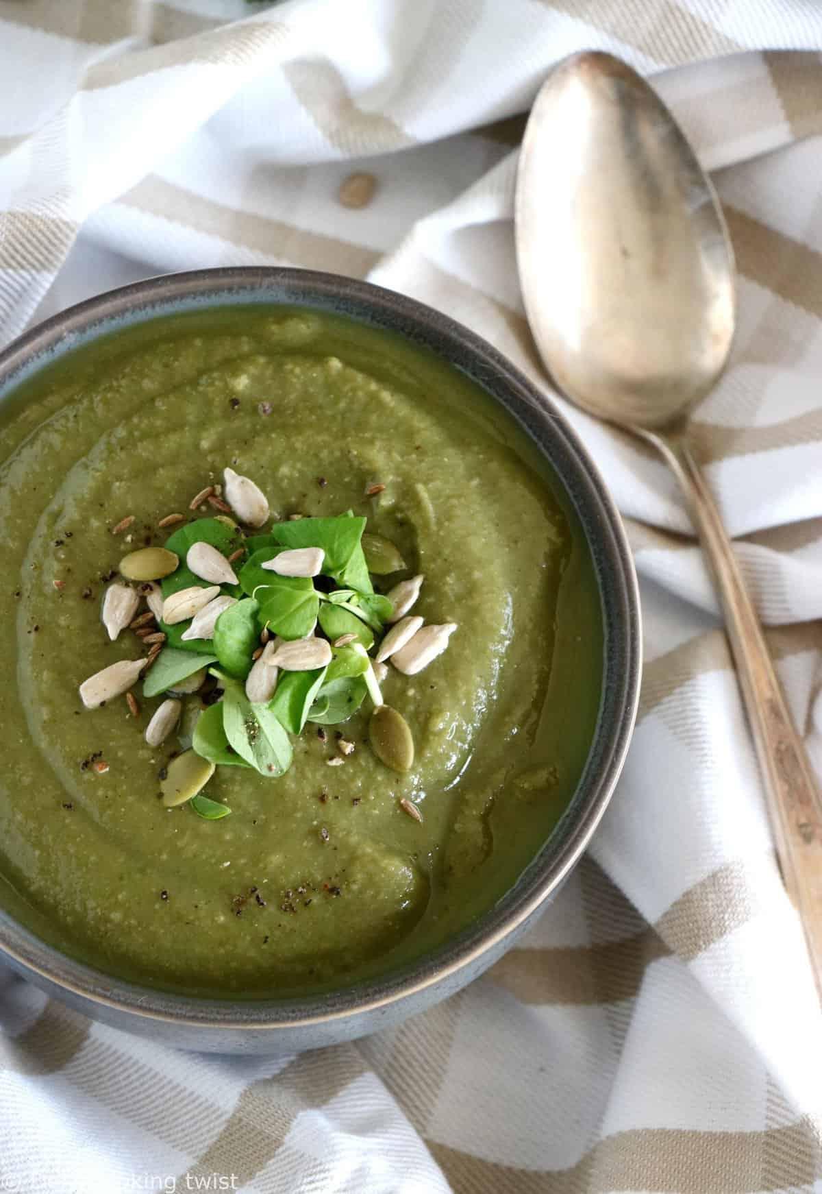 Detox Cumin Broccoli Lentil Soup