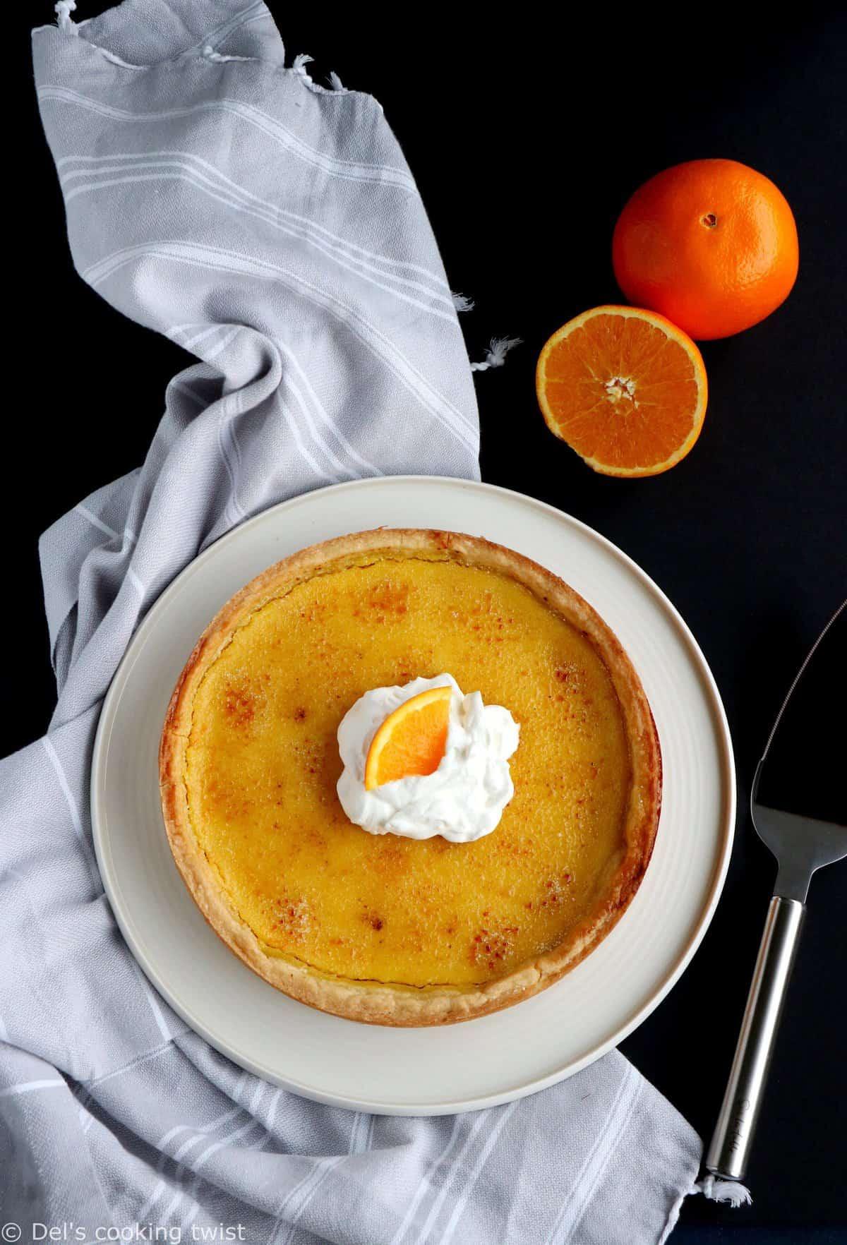 Tarte façon crème brûlée à l'orange