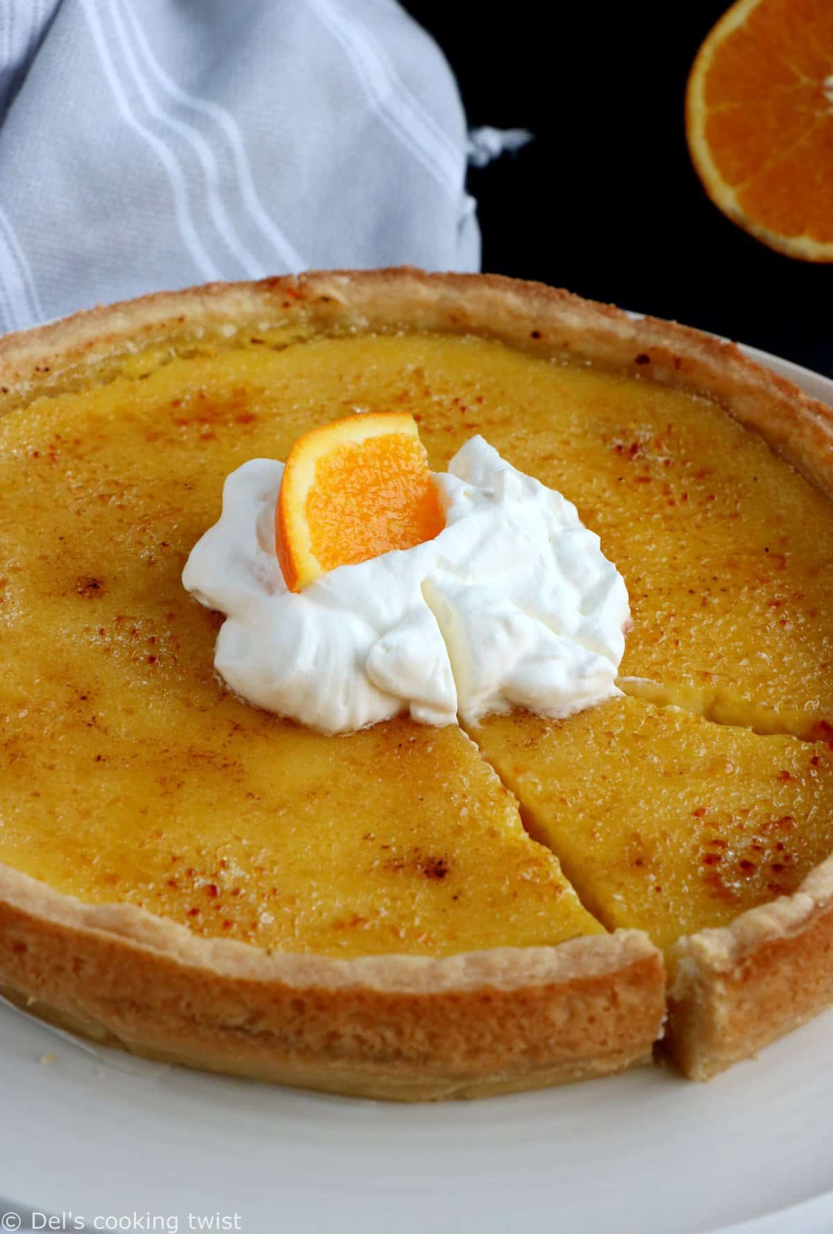 Orange Creme Tarte Brulee
