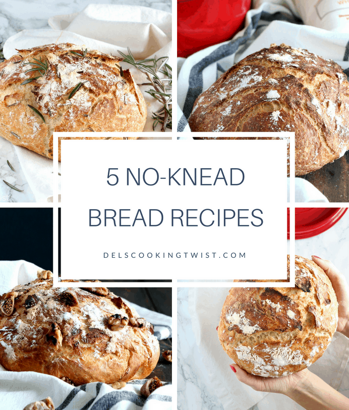 No-Knead Bread: 5 ways!