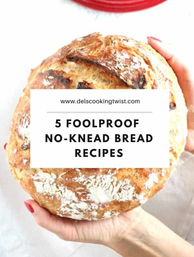 These 5 no-knead bread recipes are truly a miracle. With just a few basic ingredients and no-kneading, you get a perfect crusty artisan bread every single time with no effort.