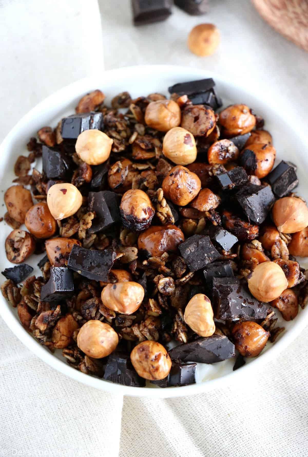 Coffee-Chocolate Hazelnut Granola